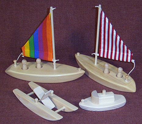 wooden toy bathtub boats