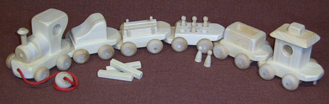wooden toy choo choo train