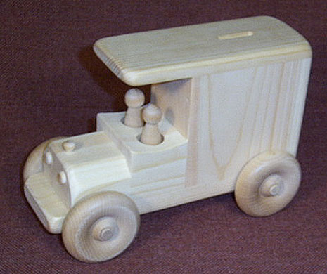wooden toy bank