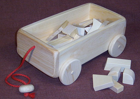 wooden toy wagon